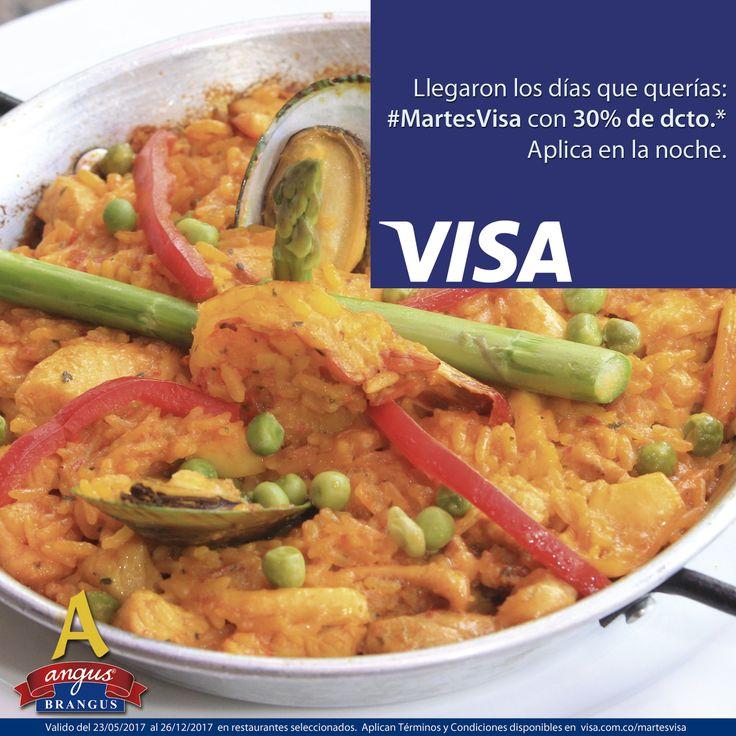 Disfruta una exquisita Paella Marinera en Angus Brangus Parrilla Bar . Esta noche con 30% de dcto. gracias a #MartesVisa . Válido de 7:00 a 12:00 P.M.   Revisa las condiciones y restricciones en: http://www.angusbrangus.com.co/alianzasydescuentos/ Reservas: 2321632 - 310 7006602. Cra. 42 # 34 - 15 / Vía las Palmas.  Visa #restaurantesmedellín #AngusBrangus #medellín #langostinos #ofertaespecial #gastronomía #medellíntown #medellíncity #medellínsisabe #poblado #noches #Cena #parrilla #bar