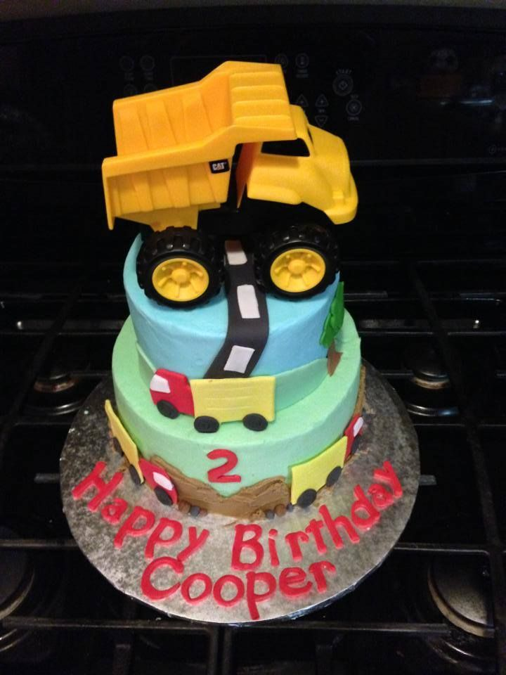 2-year old boy birthday cake #trucks #dumptruck ...