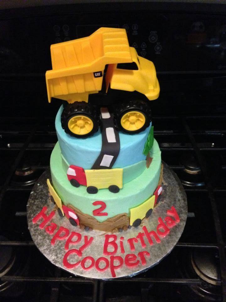 Year Old Boy Birthday Cake Trucks Dumptruck Birthdays