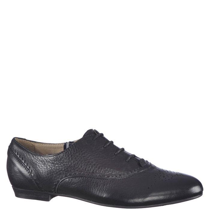 Pantofi casual pentru dama, culoare neagra. Model realizat din piele naturala atat in interior cat si in exterior. Inchiderea se face cu siret cerat.