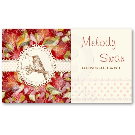 Vintage Country Bird Consultant Business Business Card Templates