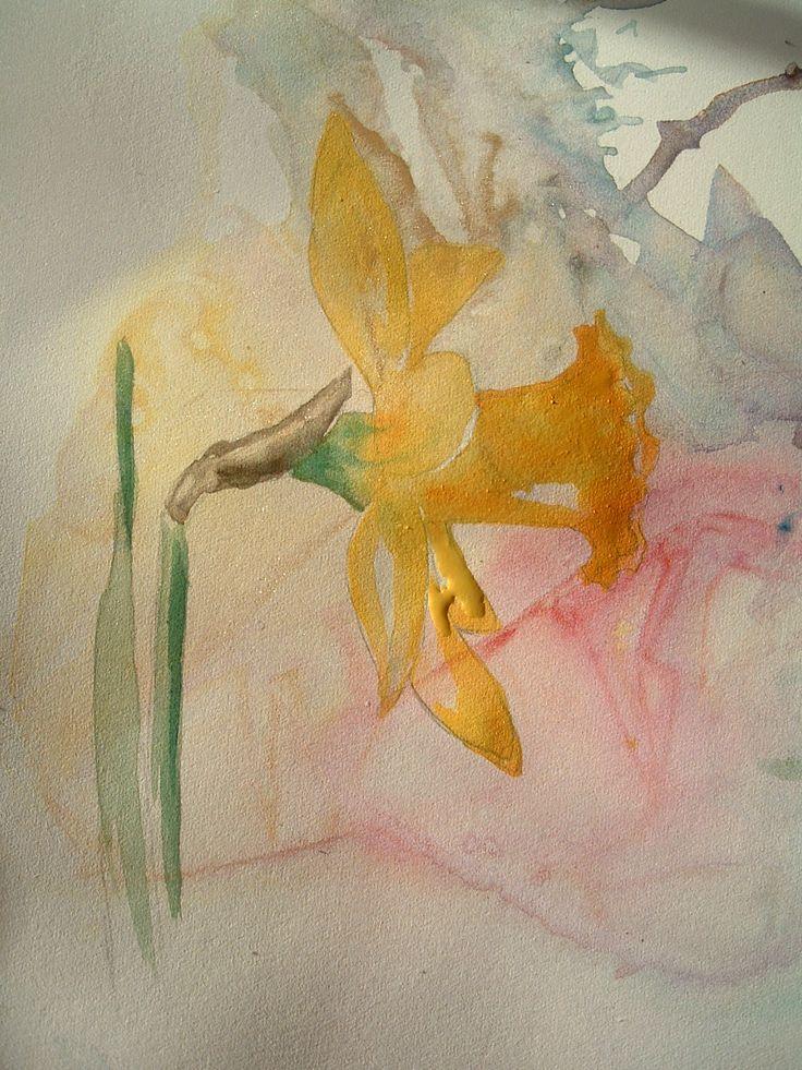 Diana M. Davis Watercolor: Quick Happy Daffodil