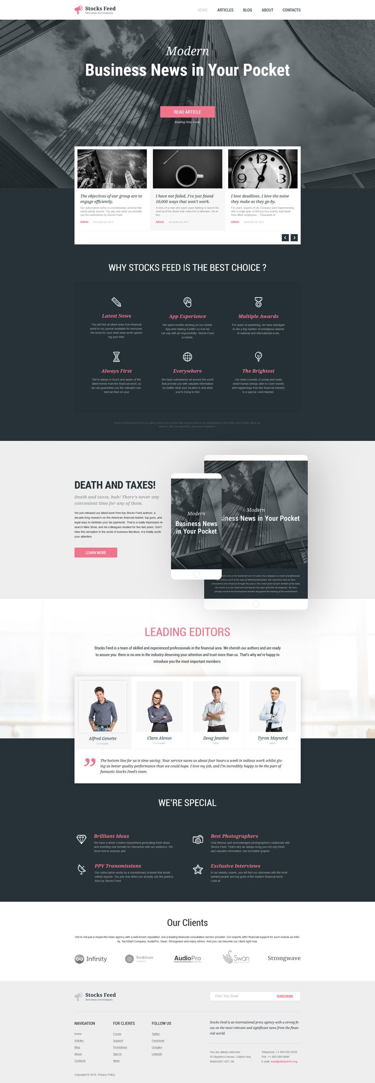 287 best wordpress themes images on pinterest website template accounting website responsive wordpress theme pronofoot35fo Choice Image