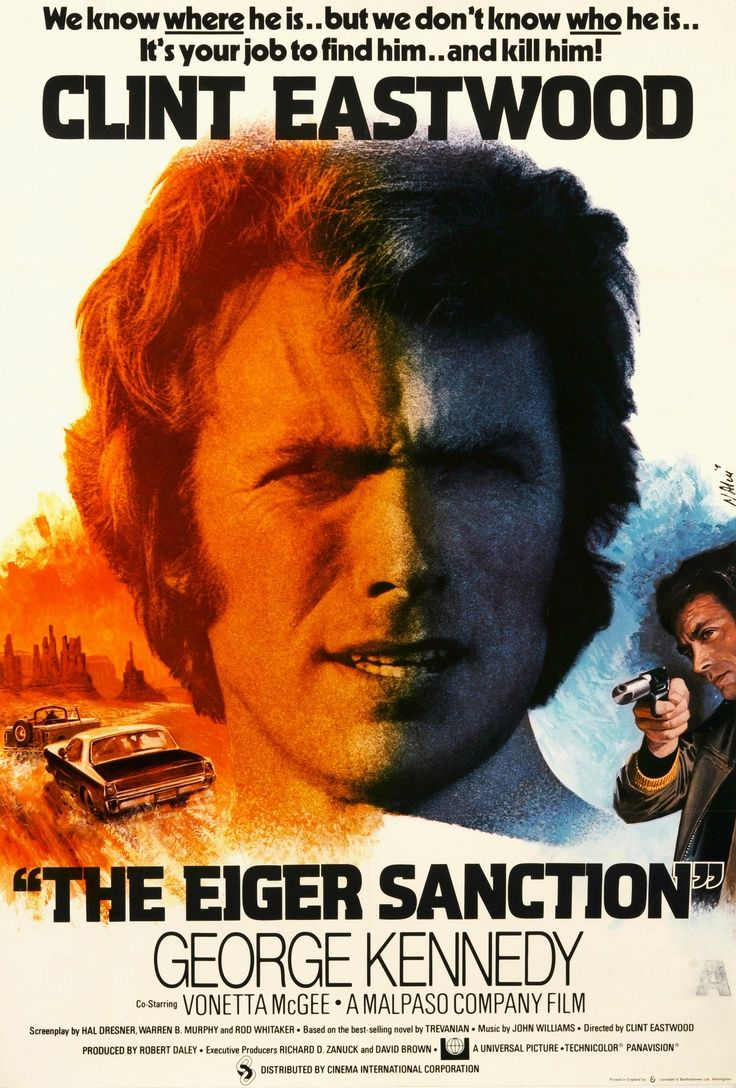 The Eiger Sanction (Clint Eastwood, 1975) A black comedy that never hits its mark, but is still an enjoyable film.