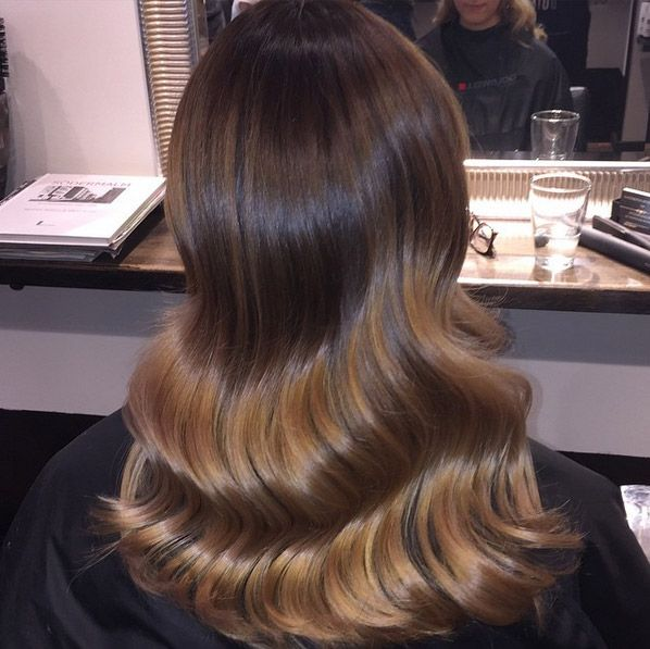 Ombre hair and brown caramel. color wella