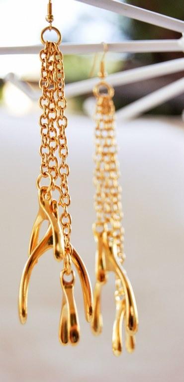 Gold plated modern earrings!