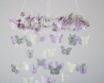 Mariposas y pájaros guardería móvil regalo de por LovebugLullabies