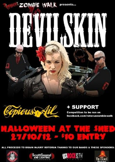 Halloween With Devilskin Live - The Shed, Rotorua