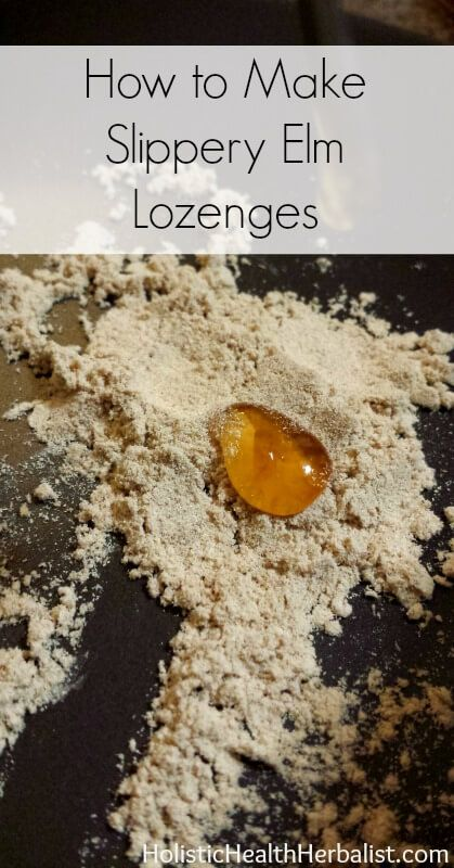 How to Make Slippery Elm Lozenges - This recipe is so simple yet so effective. They're great for treating and soothing a sore, raw, dry throat as well as great for dry sinuses and digestive upset.