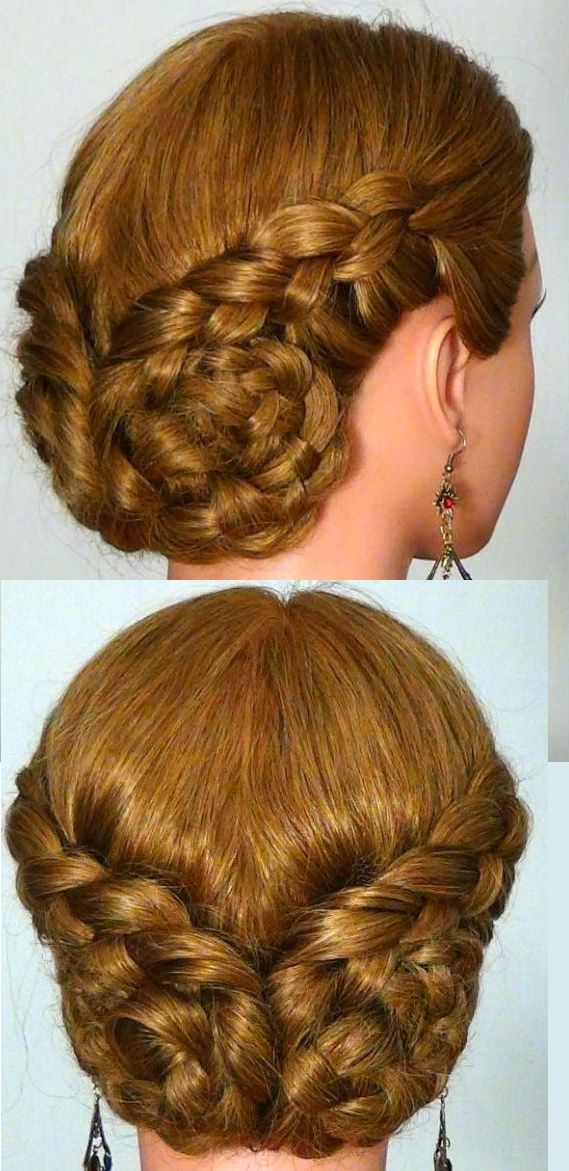 4 strand lace braid updo - link is to video tutorial done by womenbeauty1 on…