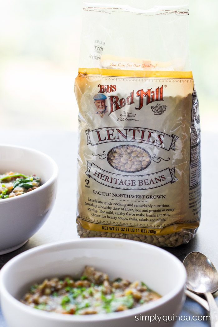 The best kind of lentils to buy to make this easy ONE POT quinoa meal | using @bobsredmill | simplyquinoa.com