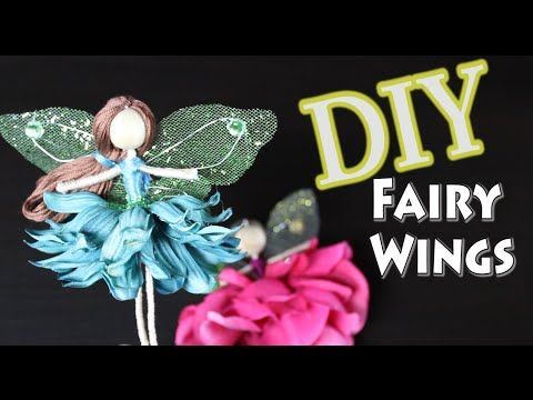 DIY Fairy Wings by Emilie Lefler- YouTube-video 9:54min-This DIY fairy wing tutorial has been requested by many of you. I hope that you enjoy learning how to make fairy wings. FAIRY WING PATTERN -