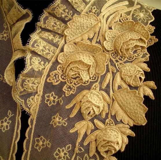 Love the 3 dimensional quality of this vintage lace.