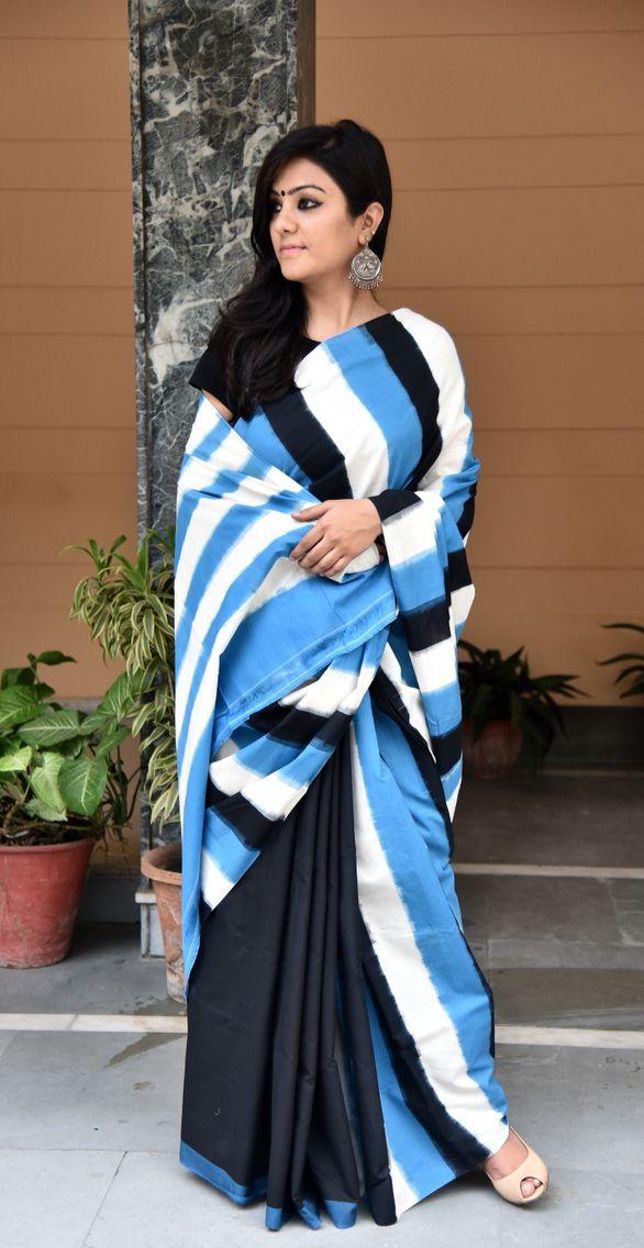 Ikkat cotton sari