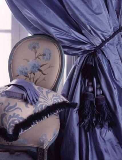 Best 25 silk curtains ideas on pinterest curtain lining - Blue and purple bedroom curtains ...