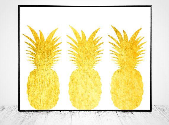 Pineapple Decor, Pineapple Print, Pineapple Printable, Pineapple Art Pineapple Art Print Decor Pineapple Print Pineapple Printable Pineapple