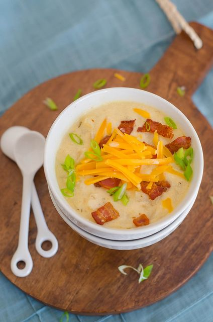 Loaded Potato Soup by House of Spain, via Flickr ...Oh, my gosh, that looks so good. I mean like SO GOOD. AND I'M STARVING.