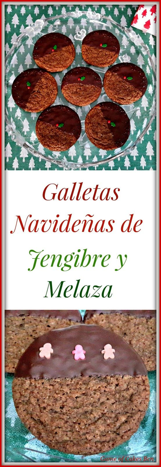 Galletas de Jengibre y melaza. Galletas para navidad. #receta #galletas #navidad #jengibre
