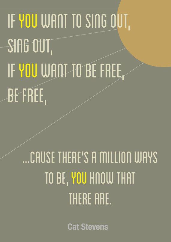 Cat Stevens Lyrics Print