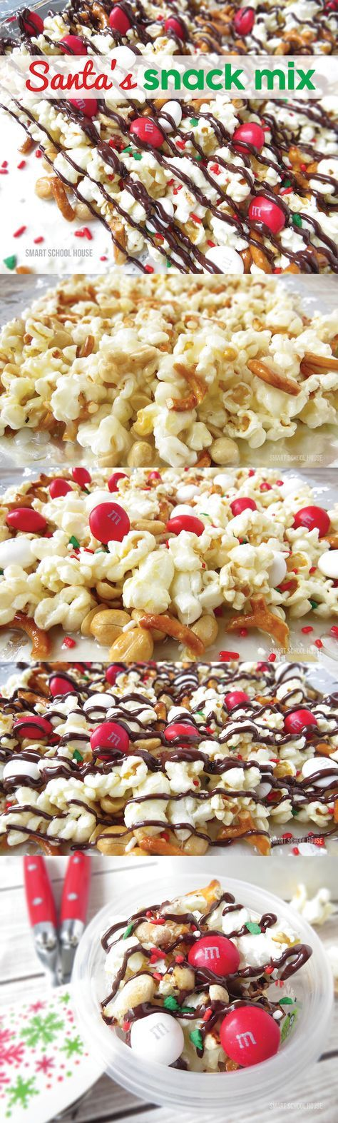 Santa's Snack Mix recipe -  A fun christmas idea that everybody LOVED!! Easy to make.