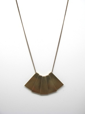 Multi Trapezoid Necklace  http://www.szekinyc.com/collections/jewelry/products/brass-pendent-necklace-4