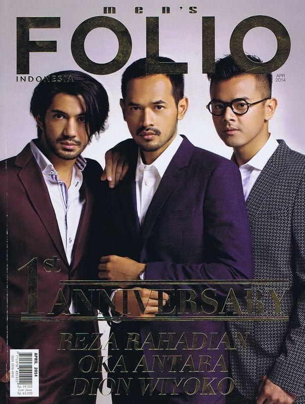 Men's Folio Indonesia - Anniversary Issue 2013 - Reza Rahadian, Oka Antara, Dion Wiyoko - Wardrobe by Gucci, Burberry, Paul Smith