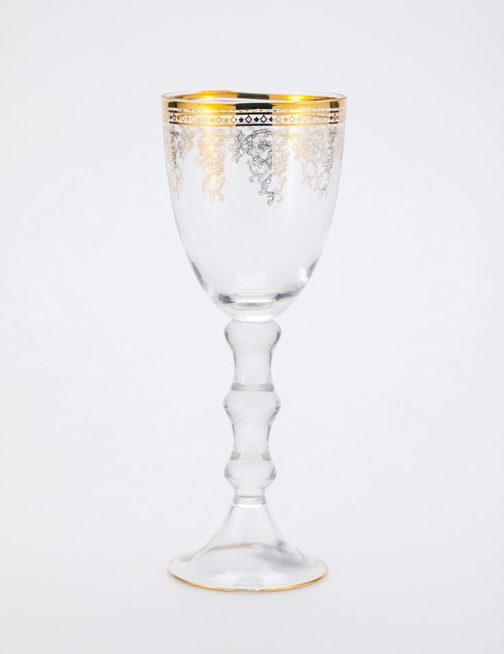 TALL wine glass gold | Drinkware | Ceramic/glass | Glass and Porcelain | Interior | INDISKA Shop Online