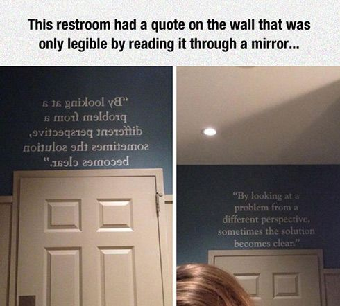 I read that without looking at the second picture