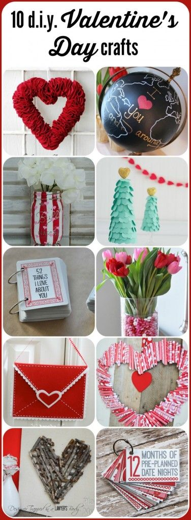 LOVE THESE! 10 fabulous Valentine's Day Crafts, rounded up by Designer Trapped in a Lawyer's Body.