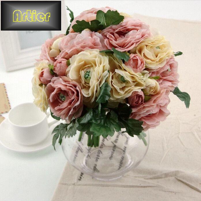 Barato Fábrica de chá de vendas de alta flor artificial decoração artesanato de comércio exterior atacado, Compro Qualidade Flores & coroas decorativas diretamente de fornecedores da China: