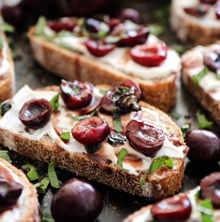 Take breakfast next level with this black cherry basil ricotta toast. Basil marinated black cherries on vanilla ricotta toast. GET THE RECIPE Black Cherry Basil Ricotta Toast submitted by Fork in the Road Related PostsRicotta Chive Eggs on ToastStrawberry Basil Bruschetta with Almond RicottaHoney & Thyme Ricotta with Fig ToastVegan Fusilli Pasta SaladEdit Related Posts