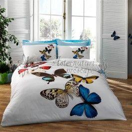 TAC Butterflies - lenjerie de pat din bumbac satinat 3D - tesatura satin de calitate superioara pentru un plus de luciu si stralucire in dormitor - model imprimat 3D - culori si imprimeuri deosebite - material bumbac 100% natural care lasa pielea sa respire http://www.asternuturisiprosoape.ro/tac-butterflies-lenjerie-de-pat-din-bumbac-satinat-3d.html  #lenjeriidepat #lenjeriitac #tac