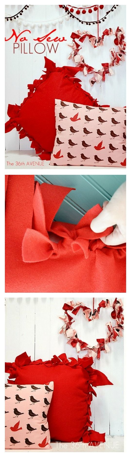 Cute Pillow Ideas To Sew : DIY No Sew Pillow Tutorial No sew fleece, Tutorials and Cute pillows