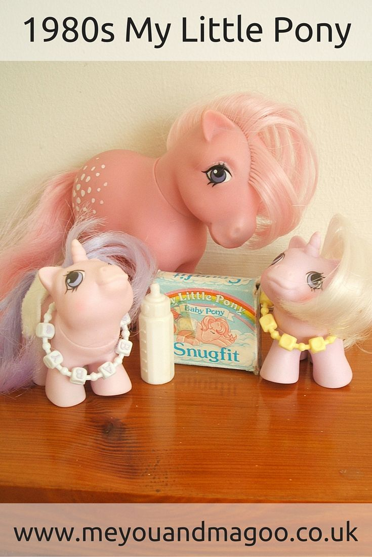 #oldschool My Little Pony: a trip into #1980s #nostalgia. Popular girls toy from Hasbro. Cotton Candy and her baby twin ponies. http://www.meyouandmagoo.co.uk/2015/11/old-school-my-little-pony-trip-into.html