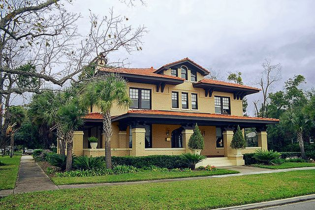 Prairie Style house facing St. Johns River, Riverside, Jacksonville by StevenM_61, via Flickr