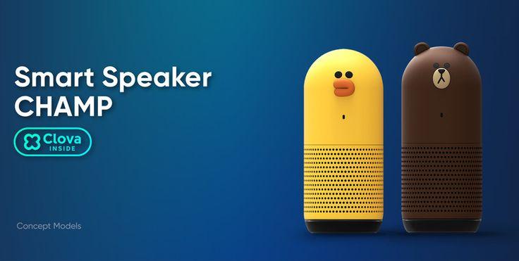 The Champ speaker range will be based on Line's famous cartoon mascots.