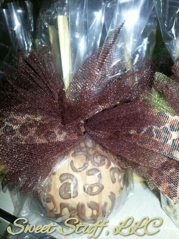 Animal print apples
