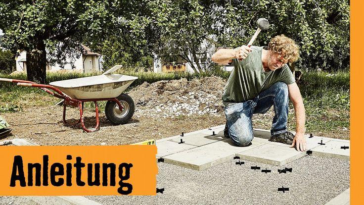 Plattenfundament bauen HORNBACH Meisterschmiede