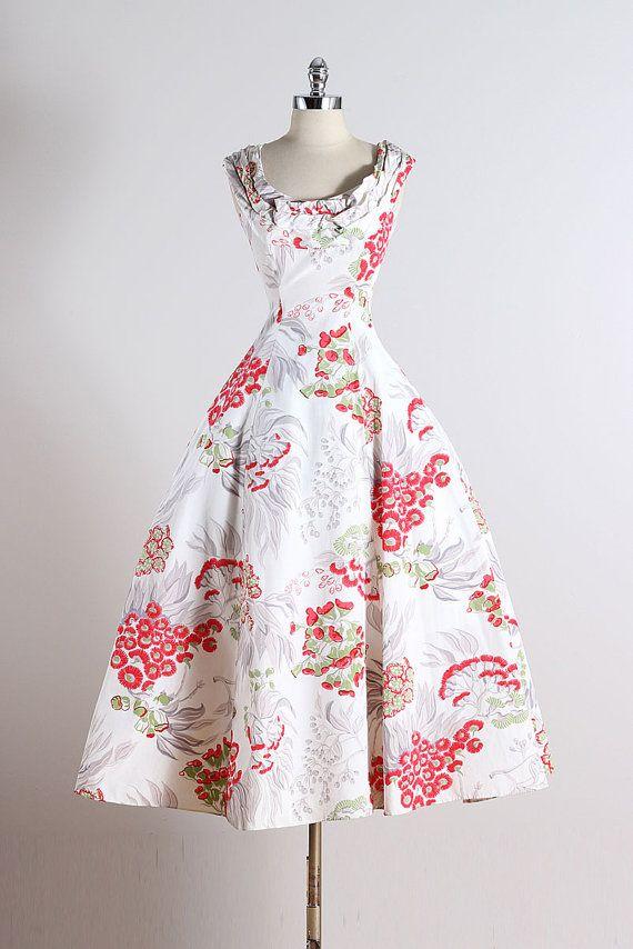 Ceil Chapman . vintage 1950s dress . vintage by millstreetvintage