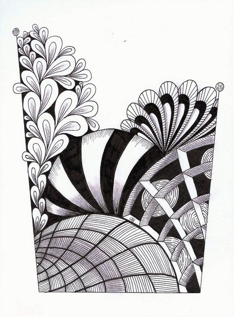 Love the movement, and the Black-grey-white value patterns.  It also should encourage doodling.  A lot of my doodles work up to designs.