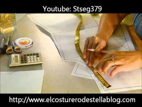 Trazo paso a paso del básico de la manga y el básico de cuello. La teoría sobre este tema la encuentran en www.elcosturerodestellablog.com
