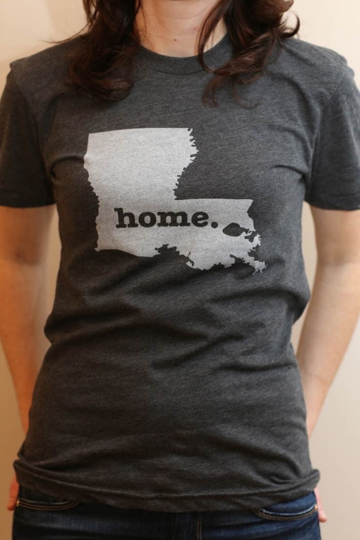 Represent! Love it! The #Louisiana Home T. A great way to show off your LA pride, and also help raise money for multiple sclerosis research. (http://www.thehomet.com/louisiana-home-t-shirt)