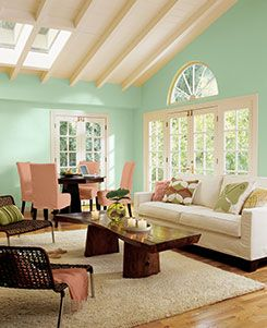 2013 Sherwin Williams Color Of The Year, Aloe. You can go funky or glamorous with Aloe. This pastel can bring the relaxing sense of a spa to walls and décor or pair it with blacks, whites or grays for that retro feel. Aloe soothes souls and brings an unexpected harmony to any area.
