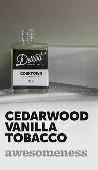 The Corktown Beard Oil Corktown is an easy scent that is sweet and yet mild enough to let you know that you can relax all day as our pleasingly scented oil goes to work in your hard earned beard. Expertly blended, the cedarwood, vanilla, and tobacco, will draw you back in your chair with that rare kind of satisfaction.