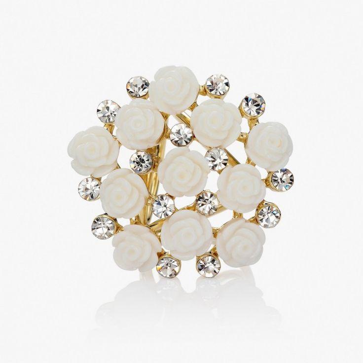Kytica kvetov je prstencová ozdoba na hodvábne šály a šatky. Ozdobu tvoria kryštály spojené s množstvom kvetov ruží. Ozdoba obsahuje zadné prstence, slúžiace na prevlečenie hodvábnej šatky alebo šálu. Prstenec je druh spony na šatky, ktorý obsahuje trojitý krúžok na prevliakanie šatiek a šálov.  www.mariejean.eu