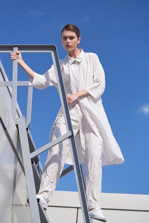 Купить Брюки МАЛЫЙ РОМБ жатка из коллекции «…И ВХОДИТ ЖЕНЩИНА» от Lesel (Лесель) российский дизайнер одежды