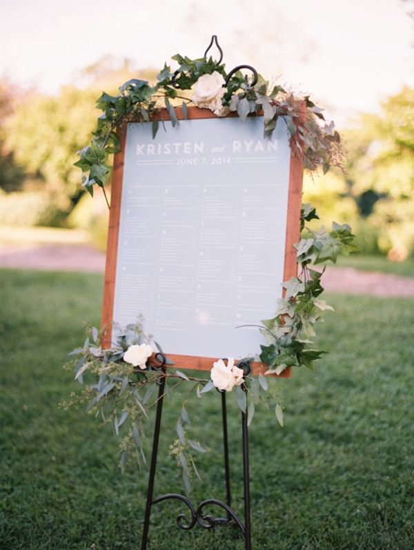 eucalyptus seating chart | Abby Jiu #wedding