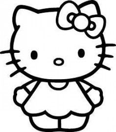 hello kitty black and white cute