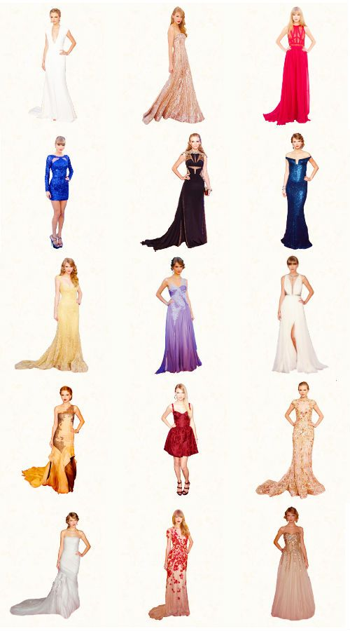 Taylor Swift award show dresses