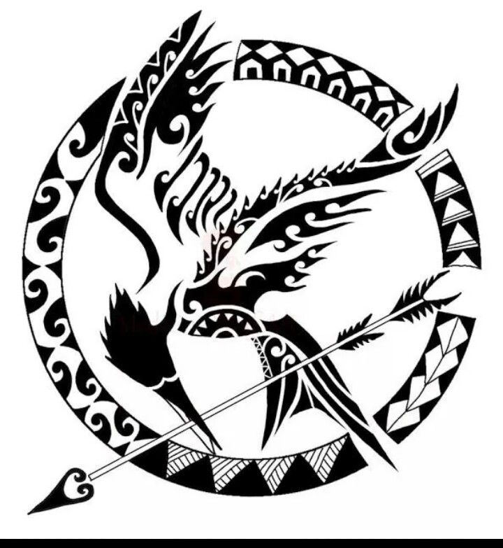 Mockingjay tattoo. I would get the Mockingjay from the last book in full flight in this tribal design.